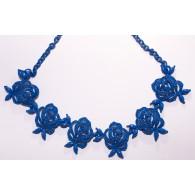 Collar Gargantilla Mujer Rosas Azules