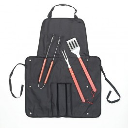 apron with utensils for barbecues