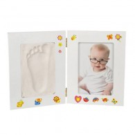Photo holder with foot/handprint for Baby