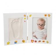 cadres photo bébé avec kit de plâtre