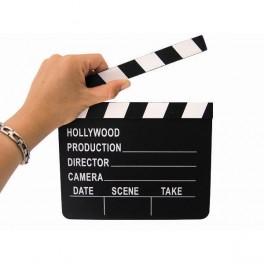 Claqueta de cine Hollywood