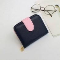 Billetera Cartera Mujer Bicolor Azul/Rosa