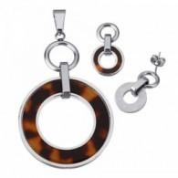 Conjunto en Acero Inox con cadena incluida