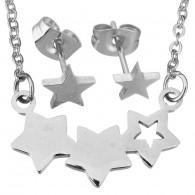 Conjunto Collar y Pendientes Mujer Estrellas