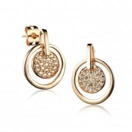 pendientes mujer golden touch con zirconita HM1