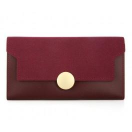 Women's Wallet Burgundy Flap Sol