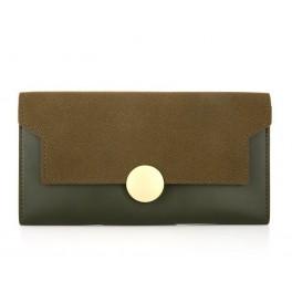 Women's Wallet Green Flap Sol
