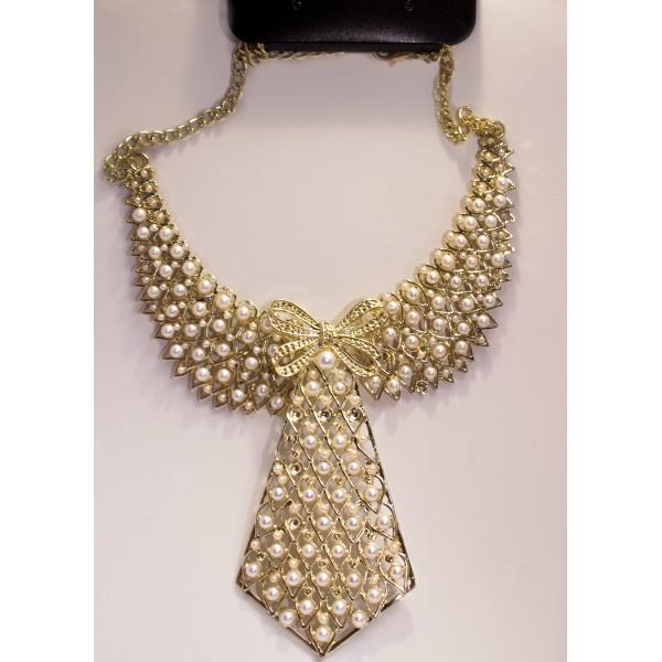 8d49b624f946 Collar Gargantilla mujer Corbata Perlas · Collar Gargantilla mujer Corbata  Perlas
