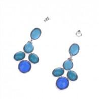 Boucles d'Oreilles Femme Blue Stones