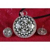 Colgante y Pendientes Mandala Estrella