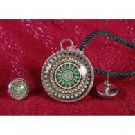 Colgante y pendientes Mandala Esperanza