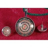 Colgante y pendientes Mandala Círculo