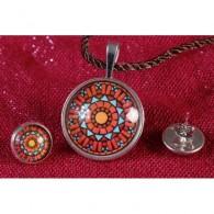 Colgante y pendientes Mandala Suadhisthana