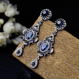 Pendientes Mujer Crystal Blue