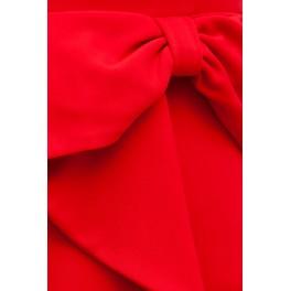 Vestido Mujer Midi Peplum Red