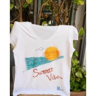 Chemise Blanc Summer Vibes