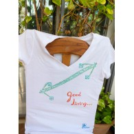 T-shirt White Good Living