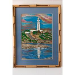 Pintura Original. Faro de Trafalgar
