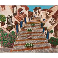 Peinture originale. A rue a Vejer
