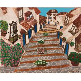 Pintura Original. Calle de Vejer