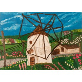 Original Paint. A windmill in Vejer