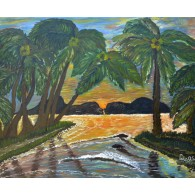 Original Paint. Sunset in Samoa