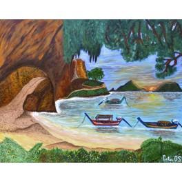 Pintura Original. Amanecer en Krabi