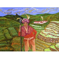 Original painting Guardian of Rice Terraces
