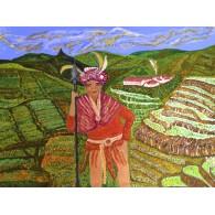 Vernice originale. Guardiano delle terrazze di riso