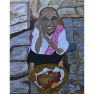 Original painting The lychees seller