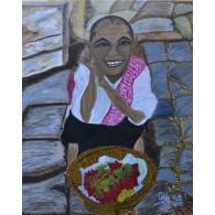 Pintura Original El Vendedor de Lichis