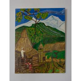 Pintura Original Valle de Pokhara