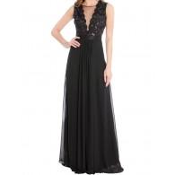 Vestido fiesta Negro Chiffon