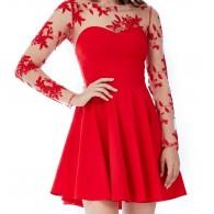 Vestito da festa rosso skater