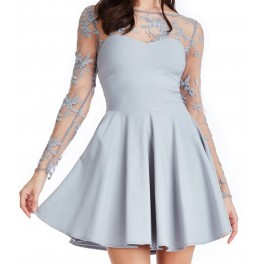 Party Dress Silver Skater
