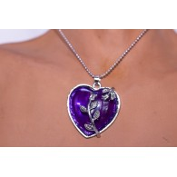 Necklace Pendant Amethyst Heart