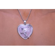 Collar Colgante Corazón Luna
