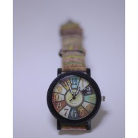 Unisex Watch Rainbow Cork