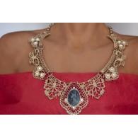 Women's Choker Necklace Cameo