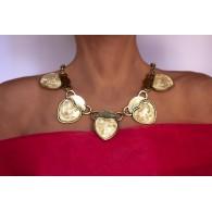 Collar Gargantilla mujer Cinco Corazones
