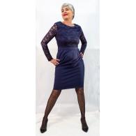 Vestido Azul con encaje