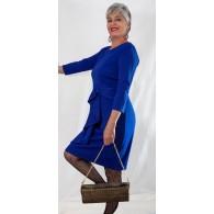 Vestito Donna Midi Peplum Blue