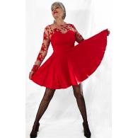 Vestido Brigitte rojo