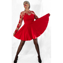 Party Dress Red Skater