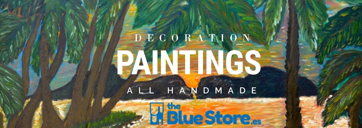 oil paintings and handmade crafts inThe Blue Store.