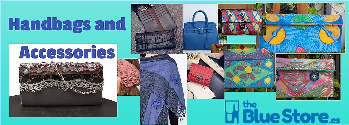 handbags, wallets and clutches in The Blue Store.