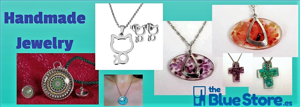 Handmade Jewelry and costume jewelry in The Blue Store.