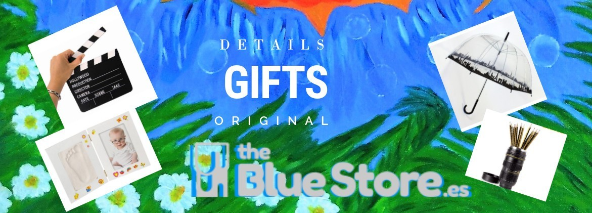 Very original Details and gifts in The Blue Store.