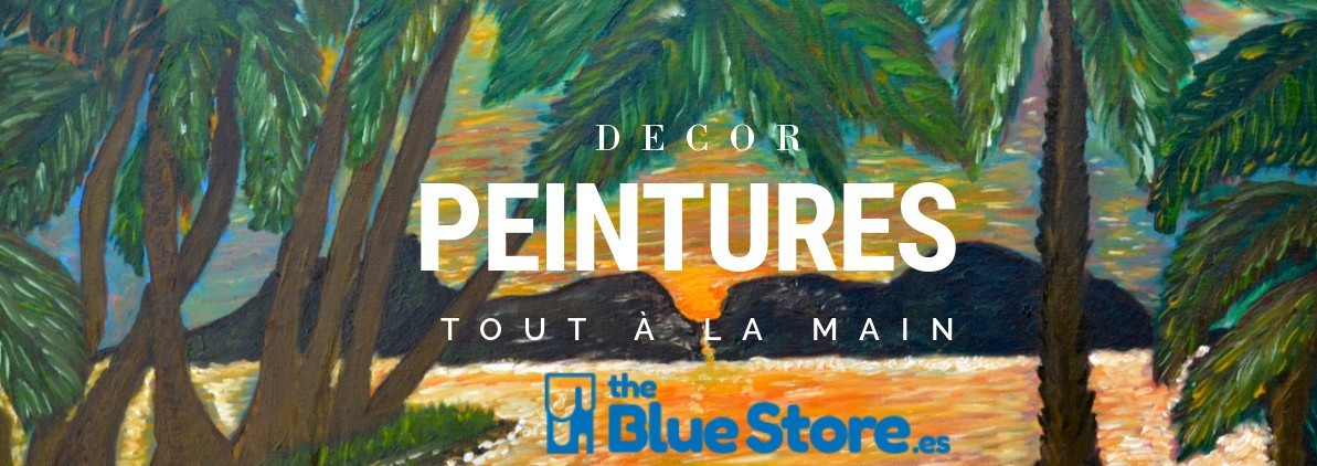 Decor des Peintures tout à la main à The Blue Store.es